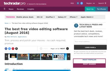 http://www.techradar.com/news/software/applications/best-free-video-editing-software-9-top-programs-you-should-download-1136264