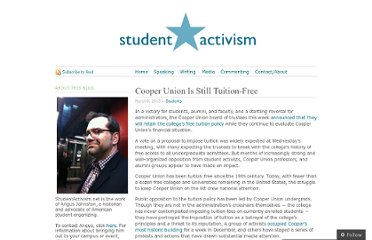 http://studentactivism.net/2013/03/08/cooper-union-is-stil-tuition-free/