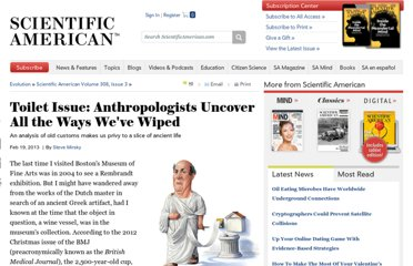 http://www.scientificamerican.com/article.cfm?id=toilet-tissue-anthropologists-uncover-all-the-ways-weve-wiped