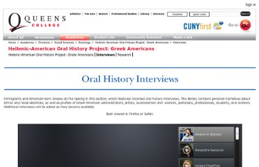 http://www.qc.cuny.edu/Academics/Degrees/DSS/Sociology/GreekOralHistory/Pages/Interviews.aspx