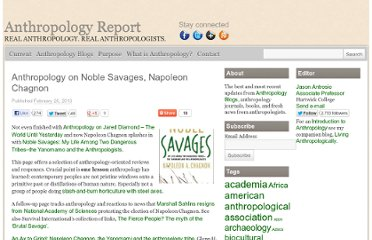 http://anthropologyreport.com/noble-savages-napoleon-chagnon/