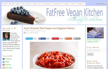 http://blog.fatfreevegan.com/2013/03/ajvar-roasted-red-pepper-and-eggplant-relish.html