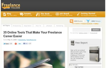 http://freelancefolder.com/35-online-tools-to-make-your-freelance-career-easier/