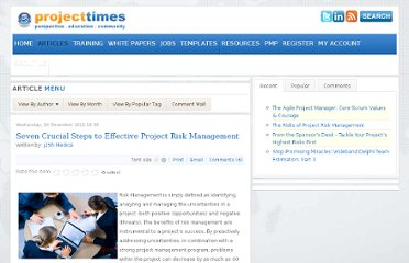 http://www.projecttimes.com/articles/seven-crucial-steps-to-effective-project-risk-management.html