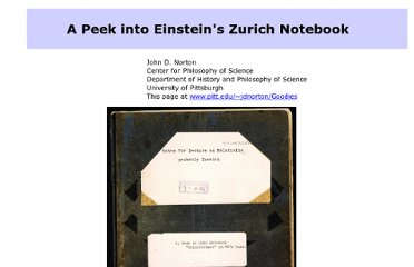 http://www.pitt.edu/~jdnorton/Goodies/Zurich_Notebook/index.html
