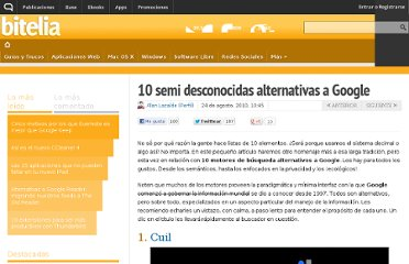 http://bitelia.com/2010/08/10-alternativas-a-google