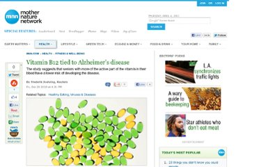 http://www.mnn.com/health/fitness-well-being/stories/vitamin-b12-tied-to-alzheimers-disease