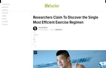 http://lifehacker.com/5989669/researchers-claim-to-discover-the-single-most-efficient-exercise-regimen