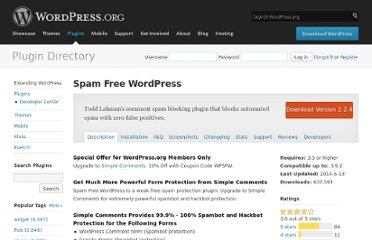 http://wordpress.org/extend/plugins/spam-free-wordpress/