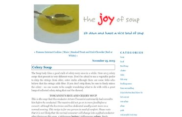 http://suzette.typepad.com/the_joy_of_soup/2003/11/celery_soup.html