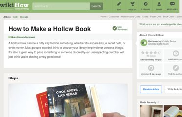 http://www.wikihow.com/Make-a-Hollow-Book