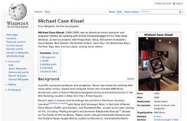 http://en.wikipedia.org/wiki/Michael_Case_Kissel