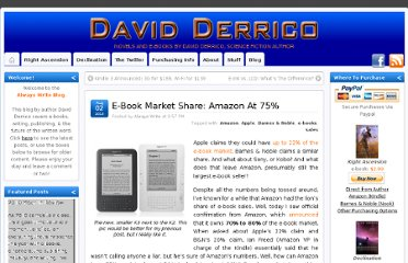 http://www.davidderrico.com/e-book-market-share-amazon-at-75/