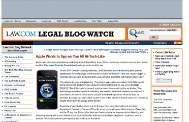 http://legalblogwatch.typepad.com/legal_blog_watch/2010/08/apple-wants-to-spy-on-you-all-hitechlike.html