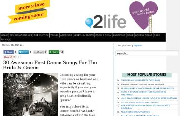 http://www.2forcouples.com/weddings/3736-30-awesome-first-dance-songs-for-the-bride-and-groom