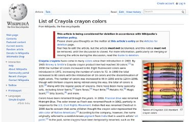 http://en.wikipedia.org/wiki/List_of_Crayola_crayon_colors