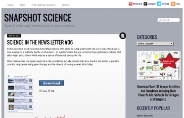 http://snapshotscience.co.uk/science-in-the-news-letter-36/