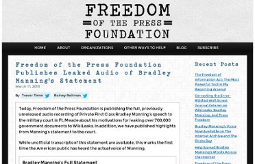 https://pressfreedomfoundation.org/blog/2013/03/fpf-publishes-leaked-audio-of-bradley-mannings-statement
