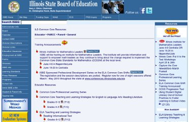 http://www.isbe.net/common_core/htmls/resources.htm
