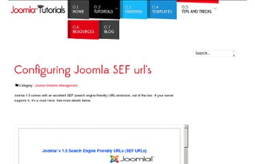 http://www.joomlatutorials.com/joomla-tips-and-tricks/38-joomla-website-management/87-configuring-joomla-sef-urls.html