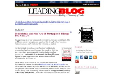 http://www.leadershipnow.com/leadingblog/2013/03/leadership_and_the_art_of_stru.html