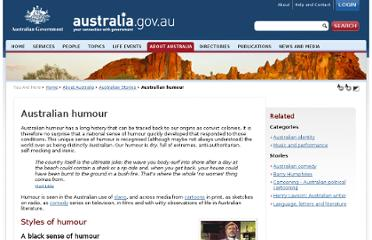 http://www.cultureandrecreation.gov.au/articles/humour/