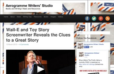 http://aerogrammestudio.com/2013/03/12/wall-e-and-toy-story-screenwriter-reveals-the-clues-to-a-great-story/