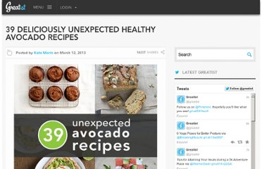 http://greatist.com/health/39-deliciously-unexpected-healthy-avocado-recipes