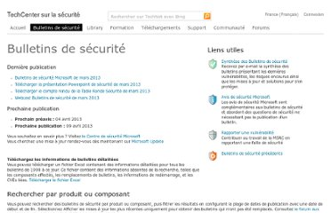 http://technet.microsoft.com/fr-fr/security/bulletin/