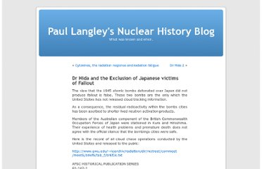 http://nuclearhistory.wordpress.com/2013/03/14/dr-hida-and-the-exclusion-of-japanese-victims-of-fallout/