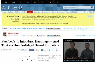 http://allthingsd.com/20130314/facebook-to-introduce-hashtags-and-thats-a-double-edged-sword-for-twitter/