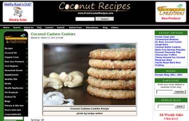 http://www.freecoconutrecipes.com/index.cfm/2013/3/13/coconut-cashew-cookies