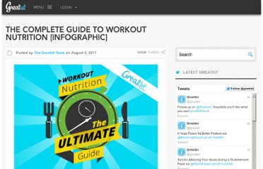 http://greatist.com/health/complete-guide-workout-nutrition-infographic
