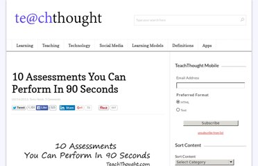 http://www.teachthought.com/teaching/10-assessments-you-can-perform-in-90-seconds/