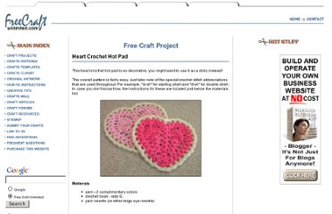 http://www.freecraftunlimited.com/heart-crochet-hot-pad.html