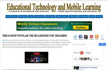 http://www.educatorstechnology.com/2013/03/the-10-most-popular-ted-ed-lessons-for.html