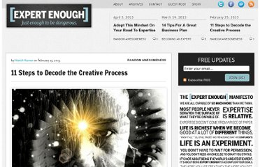 http://expertenough.com/2887/11-steps-to-decode-the-creative-process