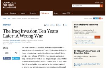 http://www.cfr.org/iraq/iraq-invasion-ten-years-later-wrong-war/p30204