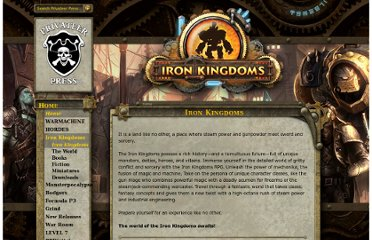 http://privateerpress.com/iron-kingdoms