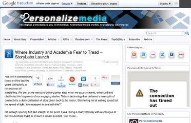 http://www.personalizemedia.com/where-industry-and-academia-fear-to-tread-storylabs-launch/