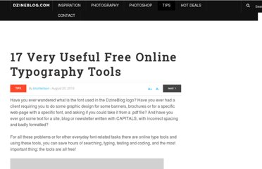 http://dzineblog.com/2010/08/17-very-useful-free-online-typography-tools.html