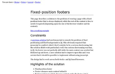http://mark-allen.net/notes/layout/footer/