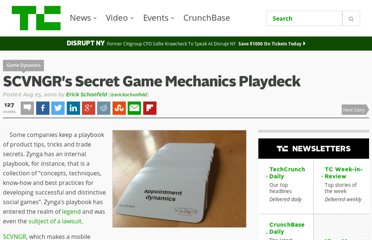 http://techcrunch.com/2010/08/25/scvngr-game-mechanics/