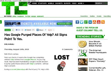 http://techcrunch.com/2010/08/26/google-places-yelp-stoppelman-awkward/