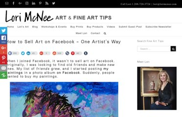 http://www.finearttips.com/2010/05/selling-art-on-facebook-one-artists-way/