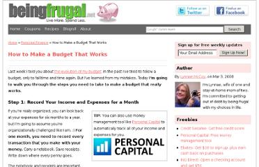 http://www.beingfrugal.net/how-to-make-a-budget/