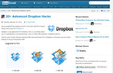 http://storecrowd.com/guide/20-advanced-dropbox-hacks
