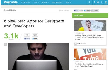 http://mashable.com/2010/08/25/mac-dev-design-apps/