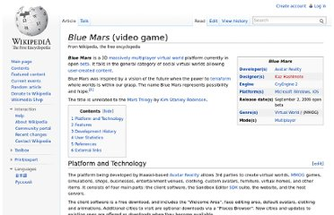 http://en.wikipedia.org/wiki/Blue_Mars_(video_game)