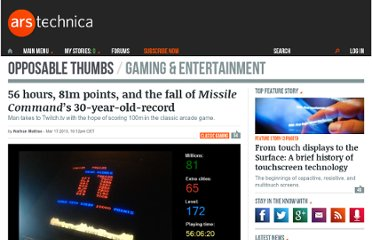 http://arstechnica.com/gaming/2013/03/55-hours-81m-points-and-the-fall-of-missile-commands-30-year-old-record/